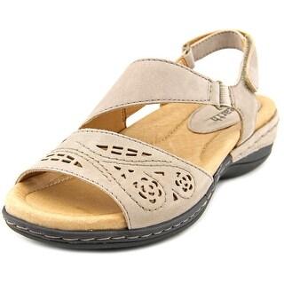 Earth Arbor Women Open-Toe Leather Slingback Sandal