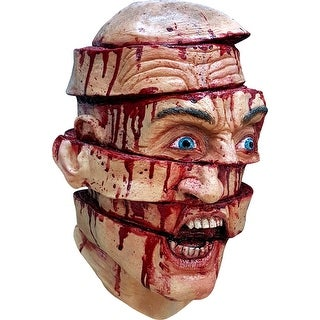 Adult Sliced Face Horror Costume Mask