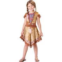 Girls Indian Maiden Halloween Native Costume - medium (size 8)