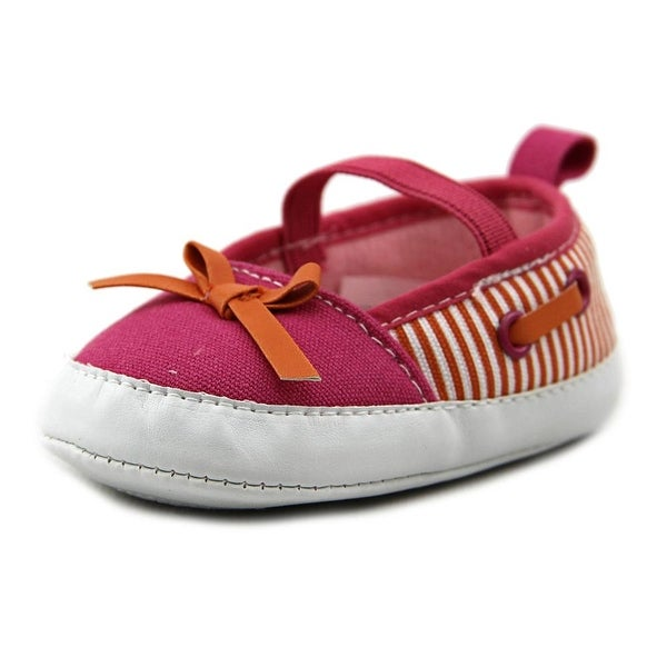 Luvable Friends 11636 Infant Round Toe Canvas Pink Slipper