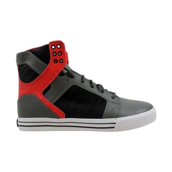 2416045a66a7 Shop Supra Skytop Grey Red-Black-White S18171 Men s - Free Shipping ...