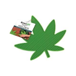 GAMAGO Leaf-Shaped Pot Holder - Green Silicone Safe up to 500 Degrees