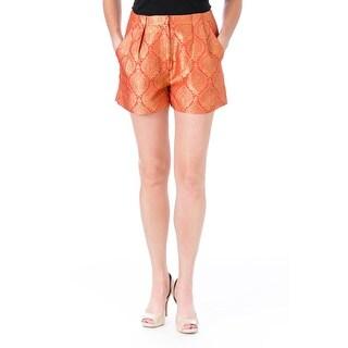 Elizabeth and James Womens Stevie Dress Shorts Metallic Jacquard