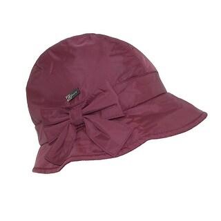 Betmar Women's Water Resistant Packable Lined Bucket Hat - Plum - One Size
