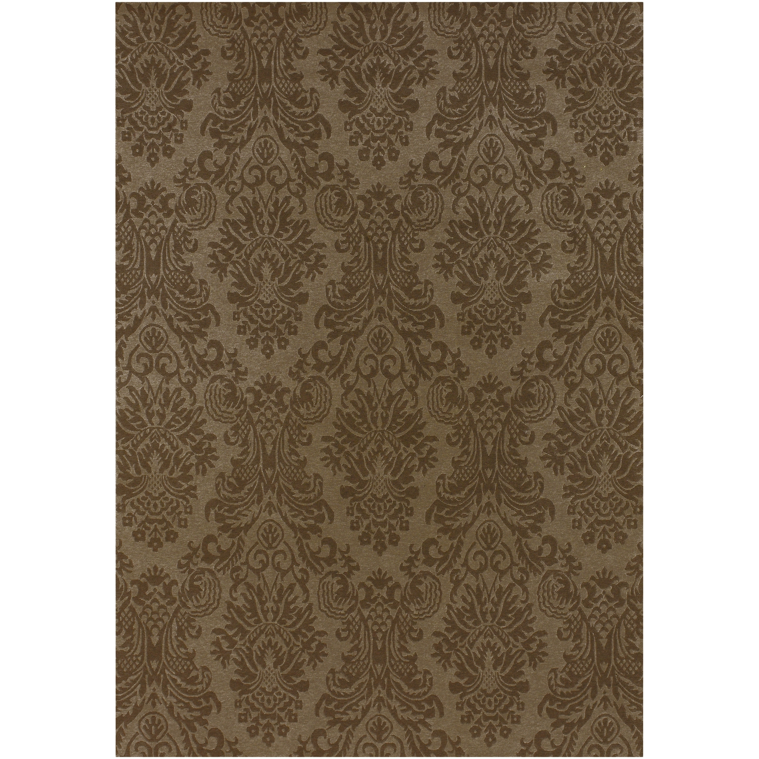 Hand-knotted Wheeler Wool Area Rug - 9' x 13'