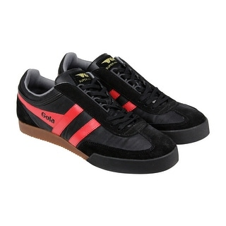 Gola Super Harrier Mens Black Textile Lace Up Sneakers Shoes