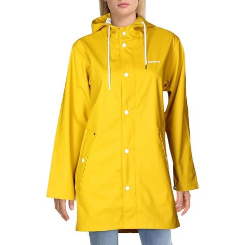 TRETORN Wings Unisex Waterproof Mid-Length Rainjacket with Drawcord Hood