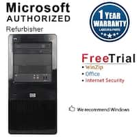 HP Pro 3130 Computer Tower Intel Core I5 650 3.2G 4GB DDR3 250G Windows 10 Pro 1 Year Warranty (Refurbished) - Black