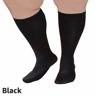 Women's Extra Wide Moderate Compression Knee High Socks - For those over 5' 7""