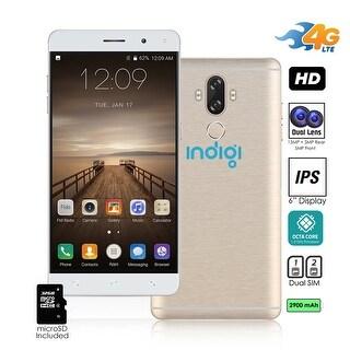 Indigi Unlocked 4G LTE 6-in Android 7 Nougat SmartPhone (Octa-Core 1.3GHz + Fingerprinter + 13MP Camera) + 32gb microSD