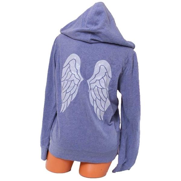 Victoria's Secret Bling Sequin Angel Wings Zip-Up Hoodie Sweater