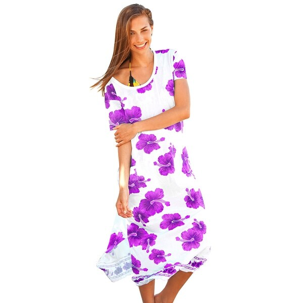Ingear Womens Shift Long Tee Dress Cover Up
