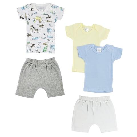 "8"" Vibrant Comfortable Infant Girls T-Shirts and Shorts - Medium"