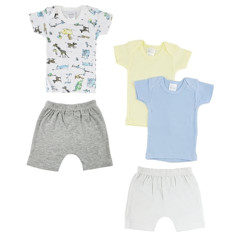 """8"""" Vibrant Comfortable Infant Girls T-Shirts and Shorts - Small"""