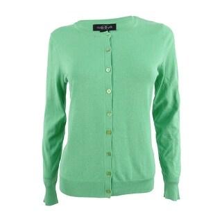 August Silk Women's Long-sleeve Sweater (S, Mint Leaf) - mint leaf - s