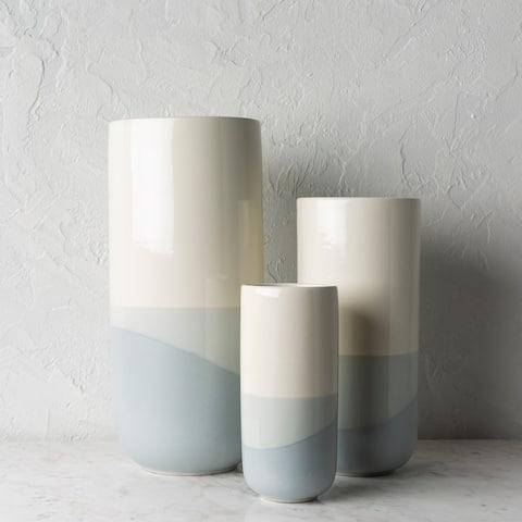 Aiye Modern Ceramic Outdoor Safe Vase Set (3 Pieces)