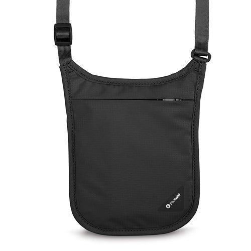 Pacsafe Coversafe V75-Black Rfid Blocking Neck Pouch w/ Adjustable straps