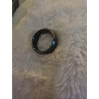 Black Tungsten Carbide Men's Brushed Finish Ring