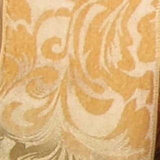 """Fancy Gold Wired Fabric Elegance Polyester Decorative Ribbon 6"""" x 20 Yards"""