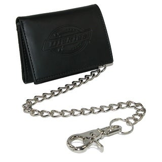 Dickies Men's Leather Trifold Chain Wallet - One size