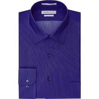 Van Heusen Mens Dress Shirt Regular Fit Herringbone