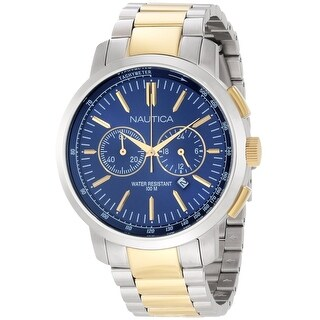 Nautica Men's Metal N23602G Silver Stainless-Steel Quartz Fashion Watch