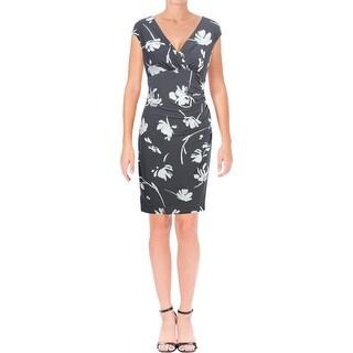 Lauren Ralph Lauren Womens Cocktail Dress Printed Knee-Length
