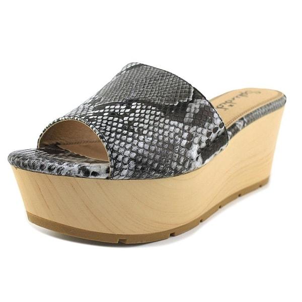 Splendid Lana Women Open Toe Synthetic Multi Color Wedge Sandal