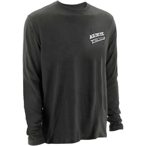 Huk KC Scott Bait Co. Dark Grey Heather Medium Long Sleeve