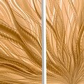 Statements2000 Copper Modern Abstract Metal Wall Art Panels by Jon Allen - Copper Plumage 3P - Thumbnail 4
