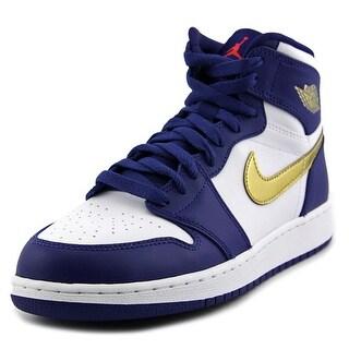 Jordan Air Jordan 1 Retro High Youth Round Toe Leather Blue Basketball Shoe