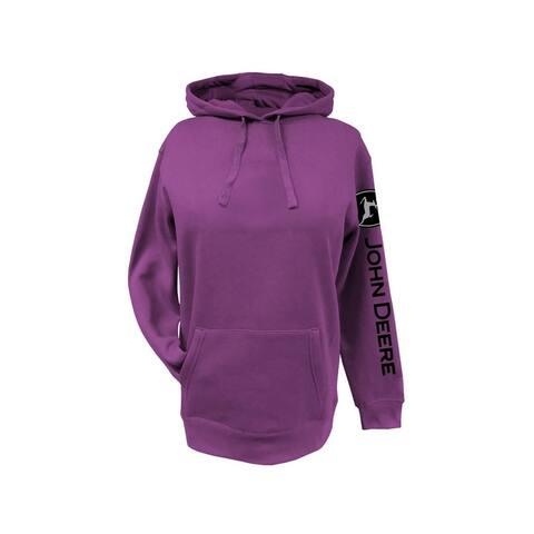 John Deere Western Sweatshirt Womens Logo Draw Cord Hoodie