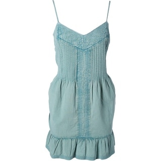 Twelfth St By Cynthia Vincent Womens Cotton Chambray Sundress - M