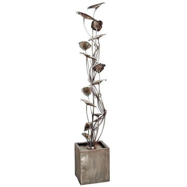 Design Toscano Wandering Leaf Cascading Metal Tower Fountain. Opens flyout.
