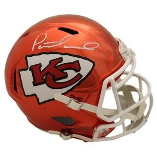 Patrick Mahomes Autographed Kansas City Chiefs Chrome Replica Helmet JSA