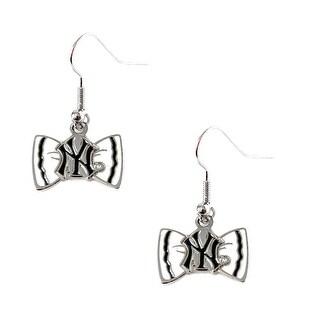 Bow Tie Earrings New York Yankees