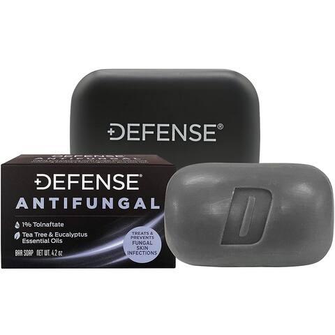 Defense Soap 4 oz. Antifungal Medicated Body Bar Soap with Soap Dish - 4 oz.
