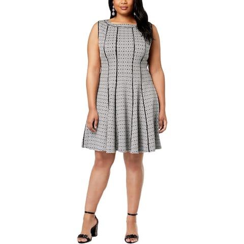 Taylor Womens Plus Wear to Work Dress Office Sleeveless