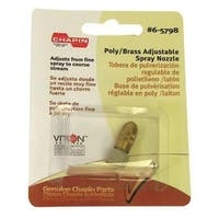 Chapin 6-5798 Adjustable Spray Nozzle, Poly-Brass