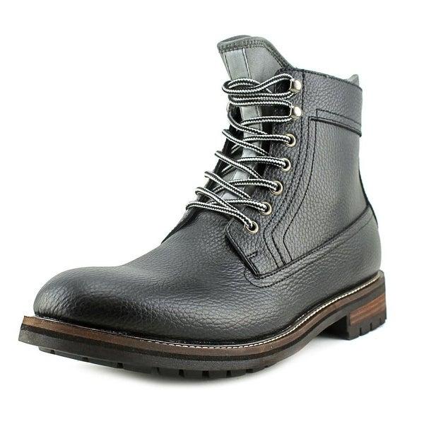 Tommy Hilfiger Hollins Men  Round Toe Leather Black Boot