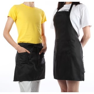 Kitchen Black Apron And Cotton Waist Apron Set
