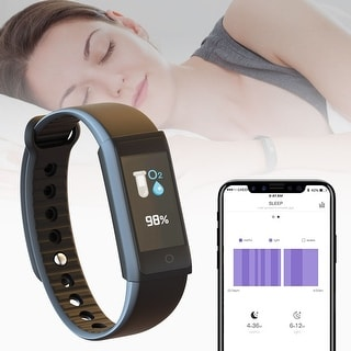 Fitness Bracelet by Indigi - Bluetooth Sync Activity Tracker + Heart Rate + Blood Pressure + Pedometer (iOS or Android)