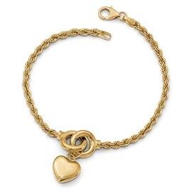 Italian 14k Gold Fancy Bracelet - 7.75 inches