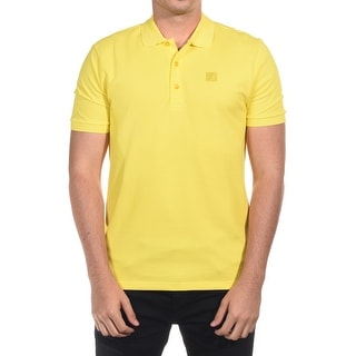 Versace Men's Cotton Medusa Logo Polo Shirt Yellow