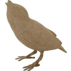 "Paper-Mache Bird Standing-4""X4.5""X2"""