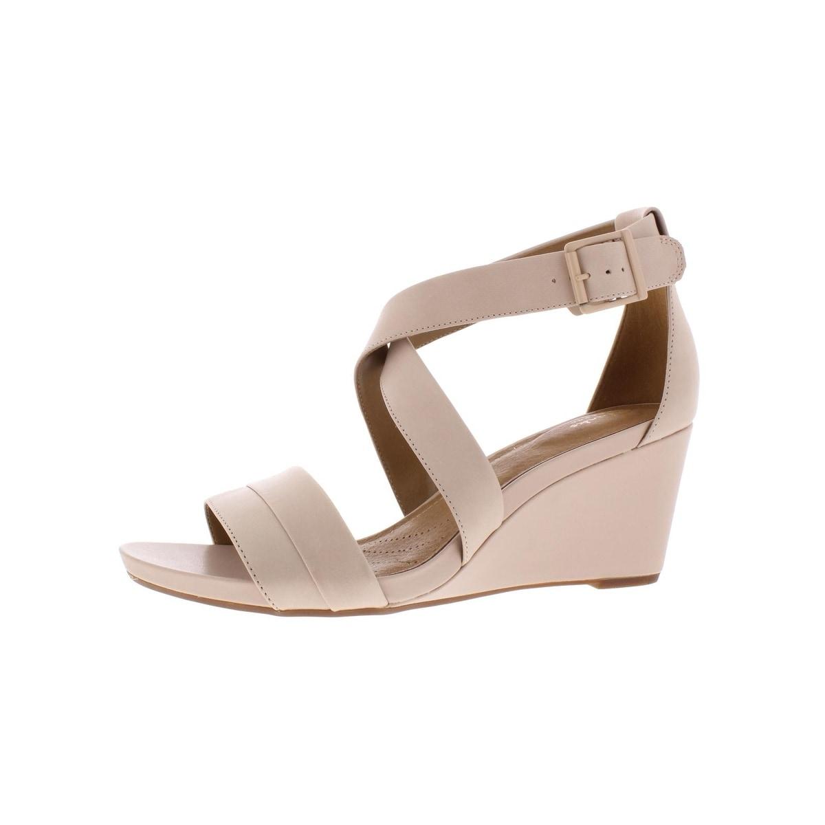 Clarks Womens Acina Newport Wedges Leather Heels