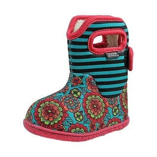 Bogs Outdoor Boot Girls Baby Pansy Plush Lining Waterproof