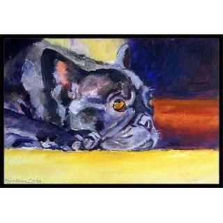 Carolines Treasures 7331MAT Black French Bulldog Sunny Indoor & Outdoor Mat 18 x 27 in.