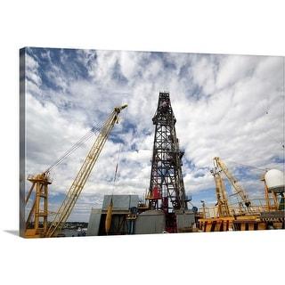 """""""Oil rig drilling derrick"""" Canvas Wall Art"""