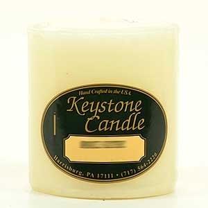 6 Pcs, French Vanilla 3x3 Pillar Candles 3 in. diameterx3.25 in. tall